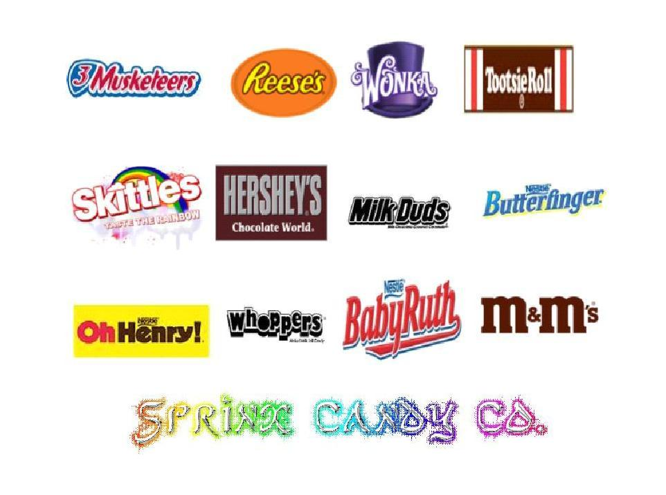 pics for gt famous candy logos